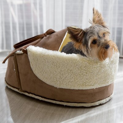 Coleen Moccasin Pet Bed Size: 16 L x 12.5 W