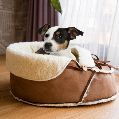 Coleen Moccasin Pet Bed Size: 18 L x 13.5 W