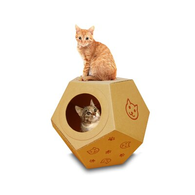16 Cardboard Rocking Ball Cat Condo