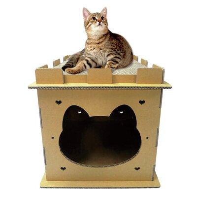 Diane 18 Mini Castle Cardboard Cat Condo