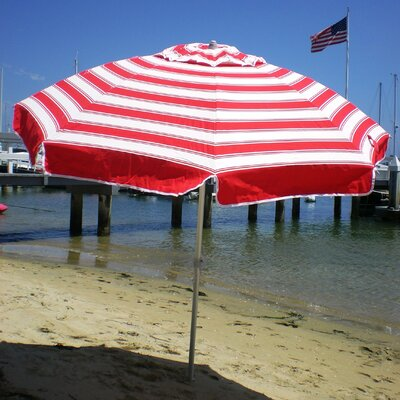 7 Beach Umbrella Color: Red/White