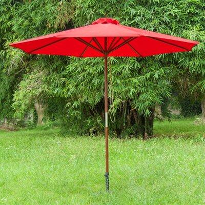 9 Market Umbrella Color: Bright Red