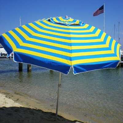 7 Beach Umbrella Color: Blue/Yellow