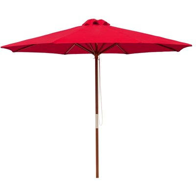 9 Market Umbrella Color: Bright Red