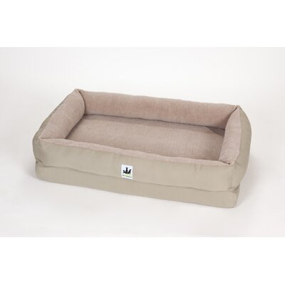 EZ Wash Fleece Lounger Poly-Filled Dog Bed Size: Medium (39 L x 27 W), Color: Sage