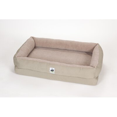 EZ Wash Fleece Lounger Dog Bed with Memory Foam Size: Large (48 L x 32 W), Color: Sage