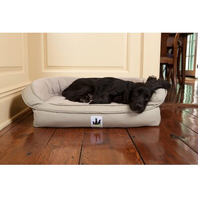 EZ Wash Fleece Headrest Dog Bed with Memory Foam Color: Sage, Size: Large (48 L x 32 W)