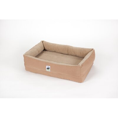 EZ Wash Fleece Lounger Poly-Filled Dog Bed Size: Medium (39 L x 27 W), Color: Tan