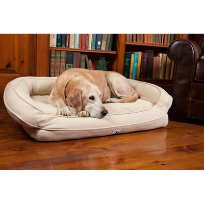EZ Wash Premium Headrest Dog Bed with Memory Foam Size: Medium (39 L x 27 W), Color: Natural