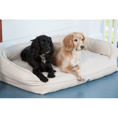 EZ Wash Premium Headrest Dog Bed with Memory Foam Size: Large (48 L x 32 W), Color: Tan