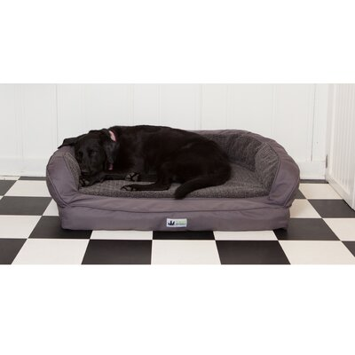 EZ Wash Fleece Headrest Dog Bed with Memory Foam Size: Large (48 L x 32 W), Color: Slate