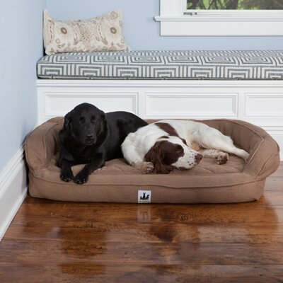 EZ Wash Premium Headrest Dog Bed with Memory Foam Size: Large (48 L x 32 W), Color: Brown