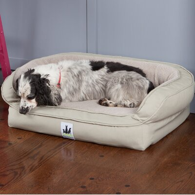 EZ Wash Fleece Headrest Dog Bed with Poly-Filled Size: Medium (39 L x 27 W), Color: Tan