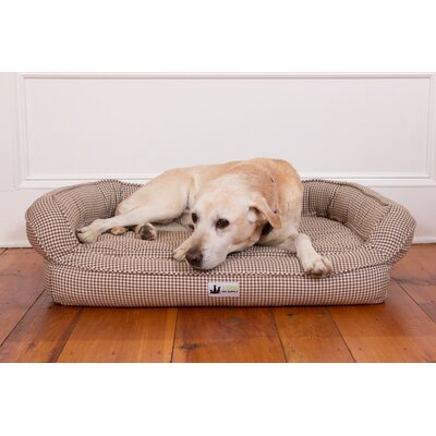 EZ Wash Premium Headrest Memory Foam Bolster Color: Brown Hound, Size: Small (33 W x 22 D)