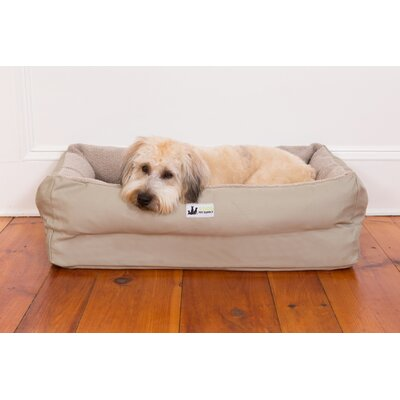 EZ Wash Fleece Lounger Dog Bed with Memory Foam Color: Sage, Size: Large (48 L x 32 W)