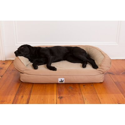 EZ Wash Fleece Headrest Dog Bed with Poly-Filled Size: Small (33 L x 22 W), Color: Tan
