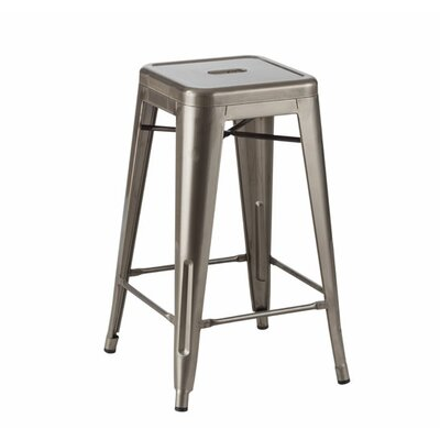 Dyer Brook Industrial 26 Clear Coat Metal Stool