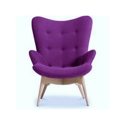 Pericles Armchair Chair Upholstery: Purple