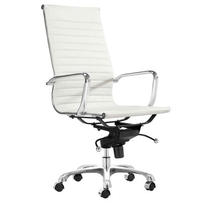 Toni High Back Leather Executive Chair Upholstery: White C2A-3010 White