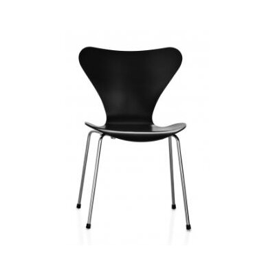 Bryd Contemporary Dining Chair Color: Black