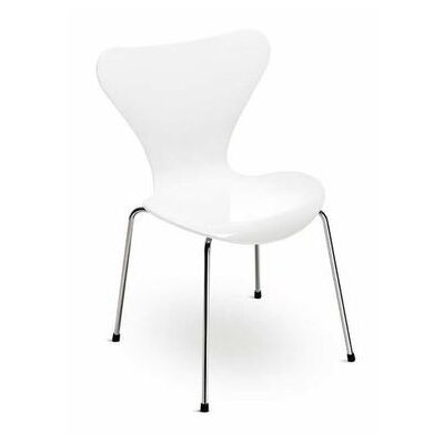 Bryd Contemporary Dining Chair Color: White