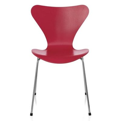 Pohlman Solid Wood Dining Chair Color: Red
