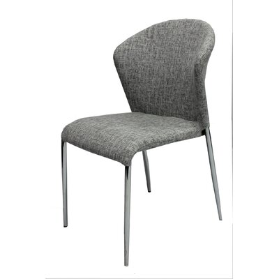 Bank Street Upholstered Dining Chair Upholstery Color: Gray