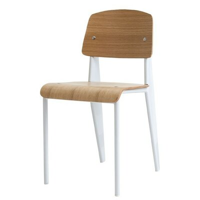 Wiegand Solid Wood Dining Chair Leg Color: White, Color: Light Brown