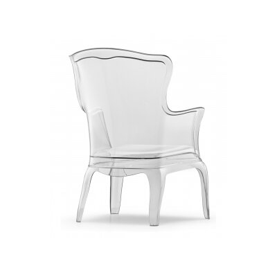 Faustina Clear Wingback Chair