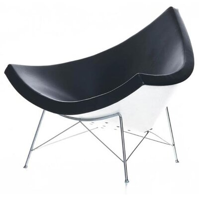 Rodrigue Lounge Chair Upholstery: Black