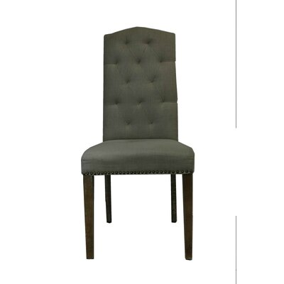 Elza Classic Upholstered Dining Chair Upholstery Color: Dark Gray