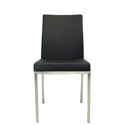 Reay Metal Dining Chair Upholstery Color: Black