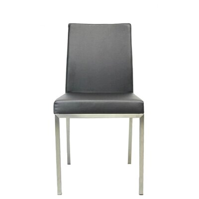 Reay Metal Dining Chair Upholstery Color: Dark Gray