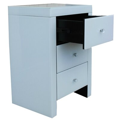 Fallston 3 Drawer Nightstand
