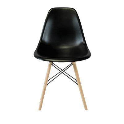 Wester Solid Wood Dining Chair Color: Black