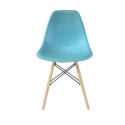 Westman Dining Chair Color: Blue, Leg Color: Walnut