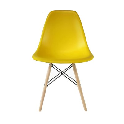 Westman Dining Chair Color: Yellow, Leg Color: Walnut