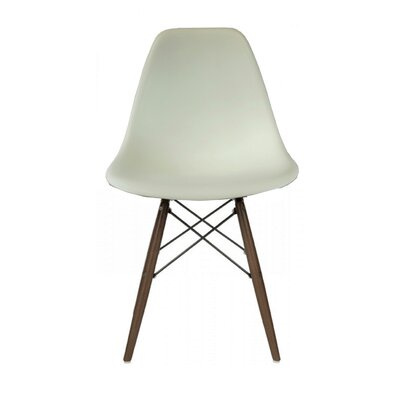 Westman Dining Chair Color: White, Leg Color: Walnut
