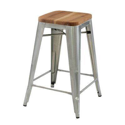 Cocchiara 26 Bar Stool with Wood Seat
