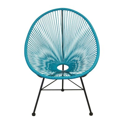 Richarson Papasan Chair Finish: Blue