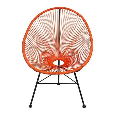 Richarson Papasan Chair Finish: Orange