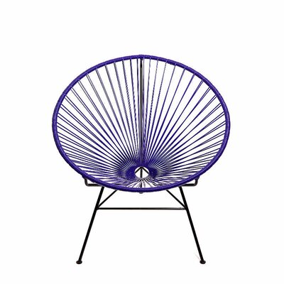 Ringler Papasan Chair Finish: Purple