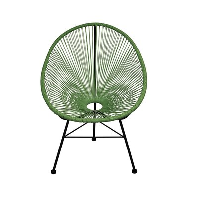 Richarson Papasan Chair Finish: Green