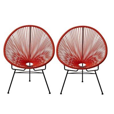 Ringler Papasan Chair Finish: Red