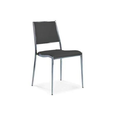 Cowger Dining Chair Upholstery Color: Black