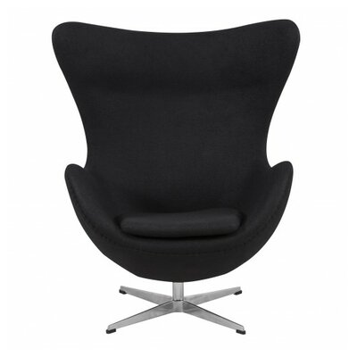 Quarterman Contemporary Swivel Lounge Chair Upholstery: Black