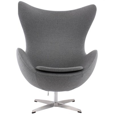 Quarterman Contemporary Swivel Lounge Chair Upholstery: Gray