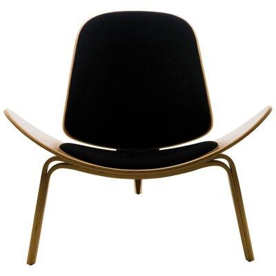 Evelynn Half Moon Lounge Chair Upholstery: Black