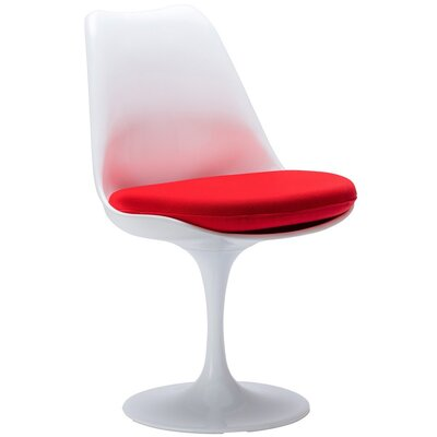 Burgos Armless Dining Chair Color: Red