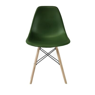 Westman Dining Chair Color: Green, Leg Color: Natural